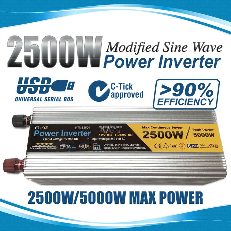 2500W / 5000W 12V-240V Power INVERTER Modified Sine Wave Camping Caravan Boat