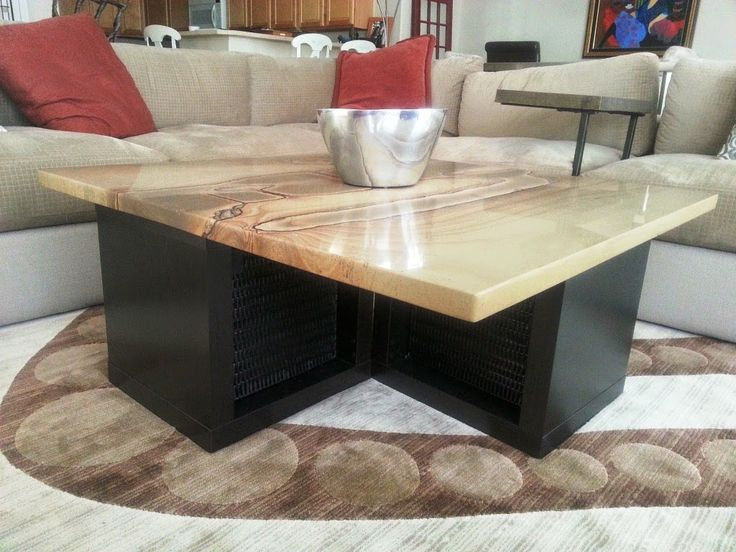 Furniture: Lovely Wood Coffee Table With Granite Top Also Real Granite  Coffee Table From 3