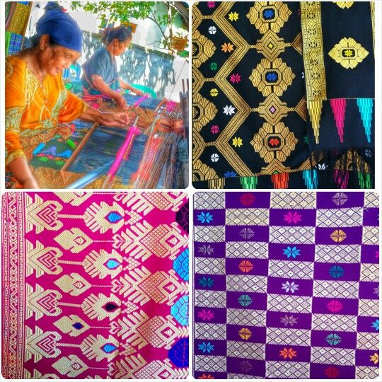 Songket handwoven from Lombok, NTB #Indonesia #Lombok #Songket