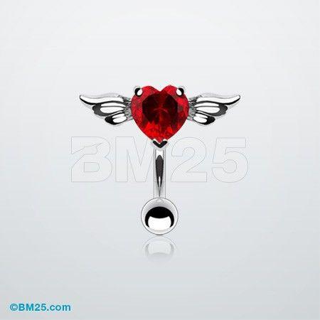 Angel Heart Reverse Belly Ring