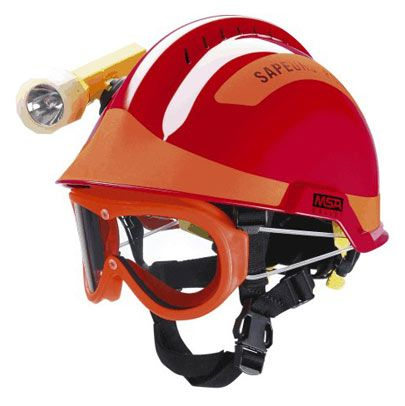 Gallet F2 X-TREM® Wildland Fire Fighter's Helmet. Made by MSA and used in Europe and Asia. #gallet #wildland #firefighter #helmet
