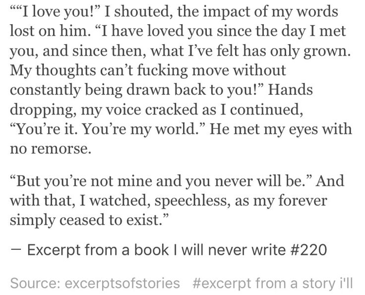 Excerpt from a book I will never write #220