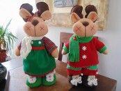 Como hacer renos navideños de fieltro con moldes01