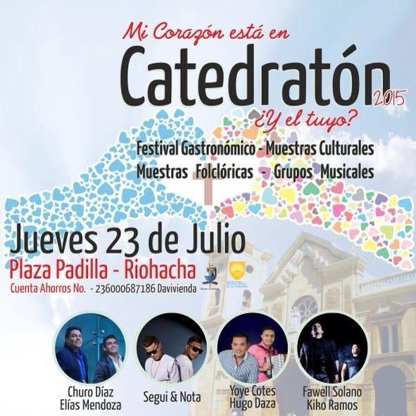 Sacerdote Jefferson de Jesús Ariza Ojeda invita a feligresía riohachera a participar en Catedratón
