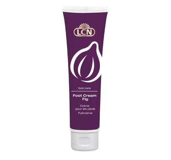 """LCN Foot Cream Vijgen Pure verzorging biedt deze lotion met vijgenolie, het """"groene' goud genaamd olijfolie, vitamine E en urea. De vele voedingsstoffen en de hydraterende factor zijn een weldaad voor de droge en gesprongen voeten."""