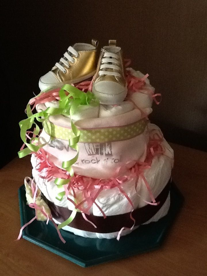 Diaper cakes made in france By 100 pour 100 amour    In bourg en bresse