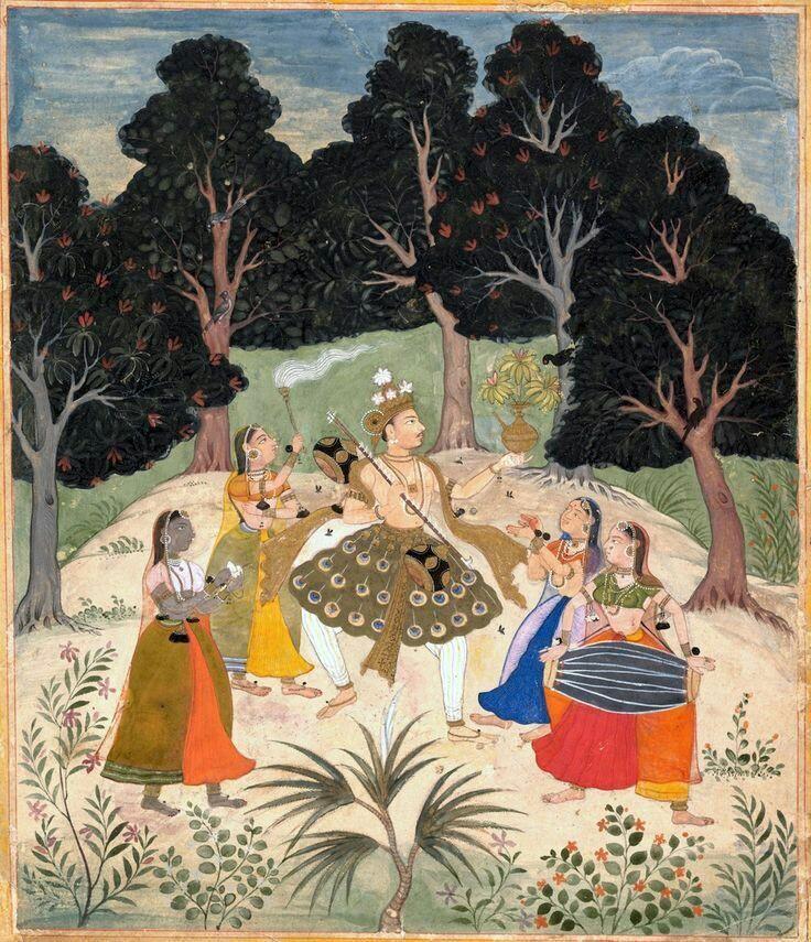 Vasant Ragini,17thC Rajasthan, Amber