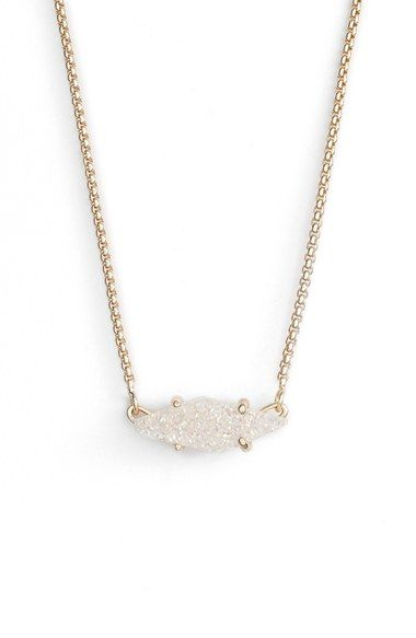 Free shipping and returns on Kendra Scott 'Bridgete' Drusy Pendant Necklace at Nordstrom.com. Put a subtle rock 'n' roll finish on your weekday look with a lightweight necklace anchored by a luminescent, geometric drusy pendant.