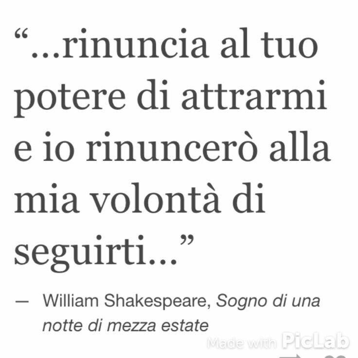 Sogno di una notte di mezza estate. Shakespeare.