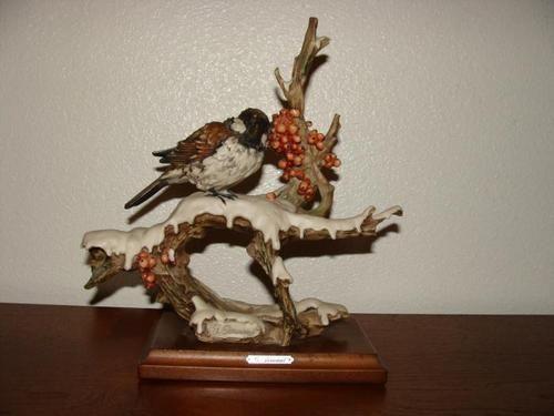 Armani Porcelain Bird Armani Capodimonte Bird Figurine 1982 Florence Signed Collectibles