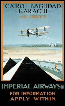 Imperial Airways travel poster, 1924