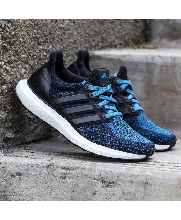 93c08ae6dd7 Adidas Ultra Boost Black Crab Blue trainers for cheap Sale