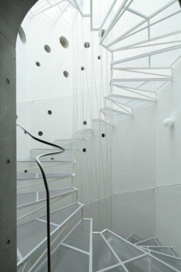 einrichtungsideen futuristische wendeltreppe gestalten