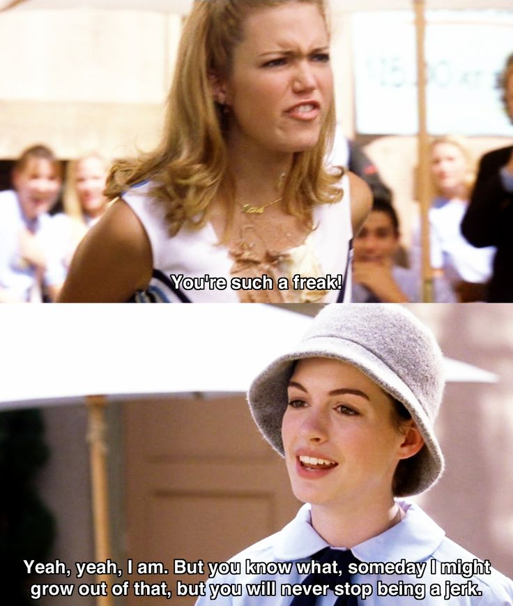 How to handle people like a Princess -- The Princess Diaries //Oh my gosh I need to remember Mia's line...