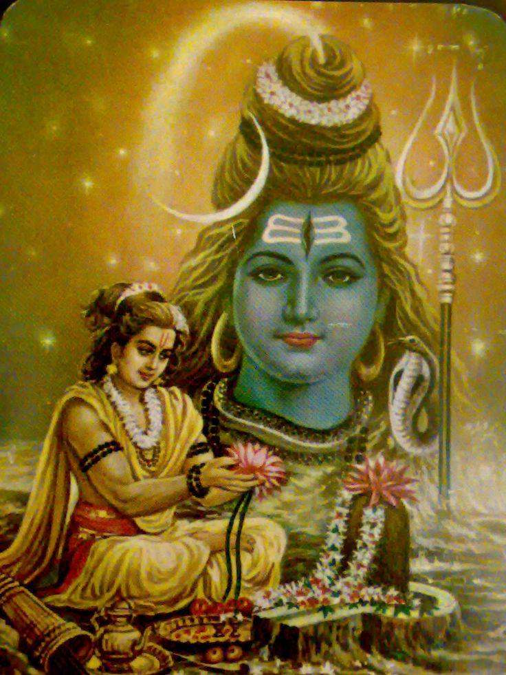 Sri Rama worshiping Lord Shiva Mahadev.