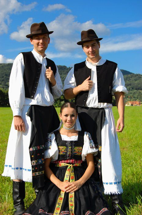 Traditional dress of Dúbravy Village. Dúbravy is in Detva District, in the Banská Bystrica Region of central Slovakia.
