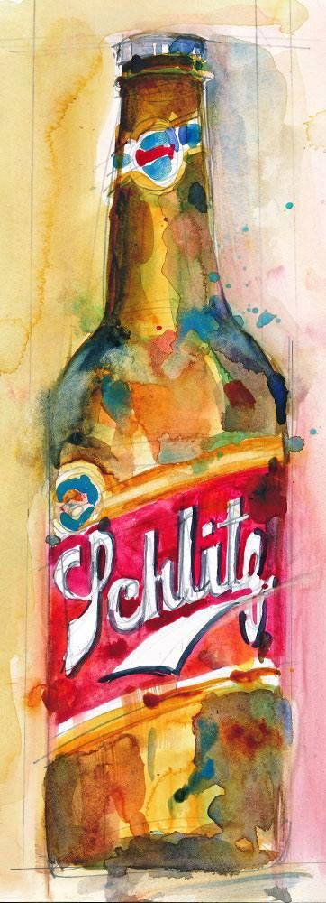Schlitz Beer Print from Original Watercolor  Print by dfrdesign, $23.00
