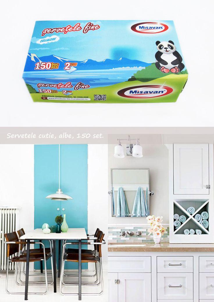 Servetele cutie, albe, 150/set: http://www.produse-horeca.ro/alte-spatii/servetele-cutie-150/set #misavan