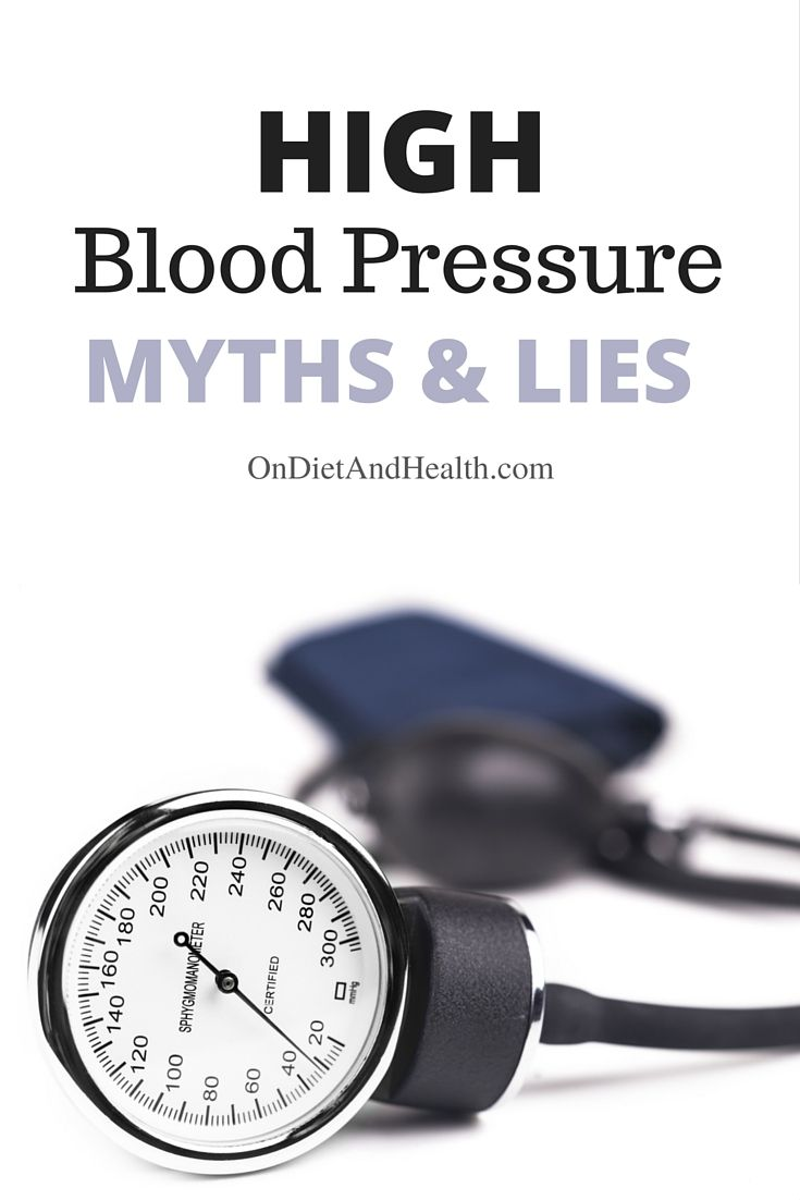 "Do you know about high blood pressure myths and lies? Not knowing the truth can lead to a lifetime of medication, never resulting in a ""cure."" Medications generally address only the symptom and not the cause. High blood pressure is extremely serious and it can absolutely cause chronic illness or death. Getting it properly diagnosed - and treating the true cause(s) - is our aim.  // @ondietandhealth"
