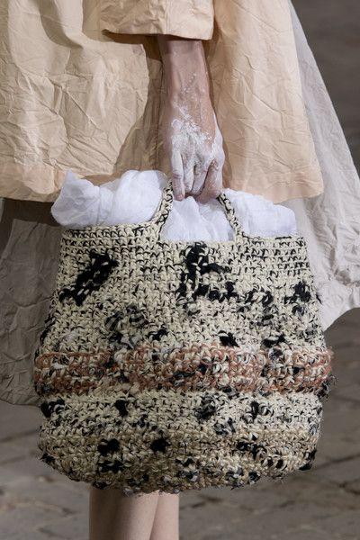 Daniela Gregis At Milan Fashion Week Fall Details Crochet Bag