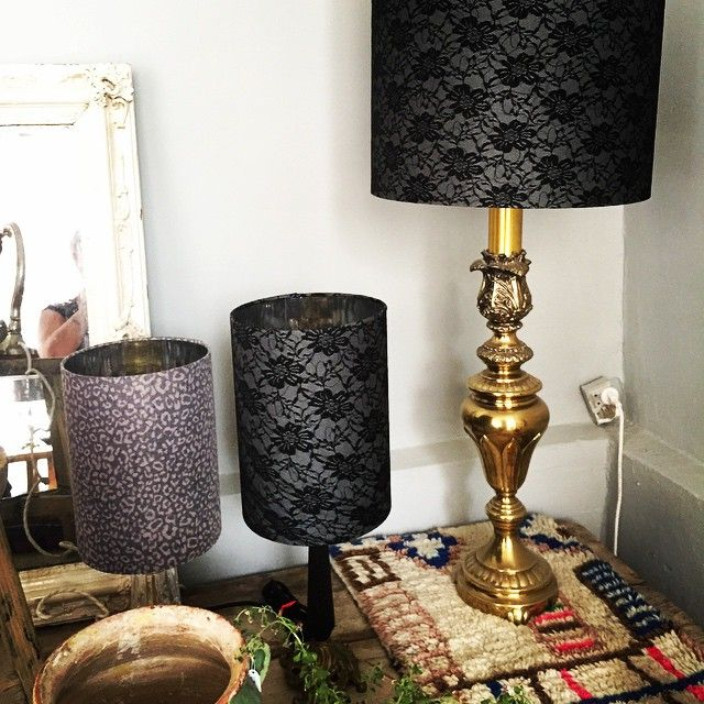 Moving vintage lamps from my favorite office in #lot29 to the shop #bohohabits #come and have a look at the new lampshades, so cool #rikkemai #storiesbyrikkemai #flamboyantinterieur #vintagelampshades #laceshades