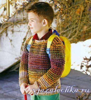 Детский свитер спицами «Природные цвета»