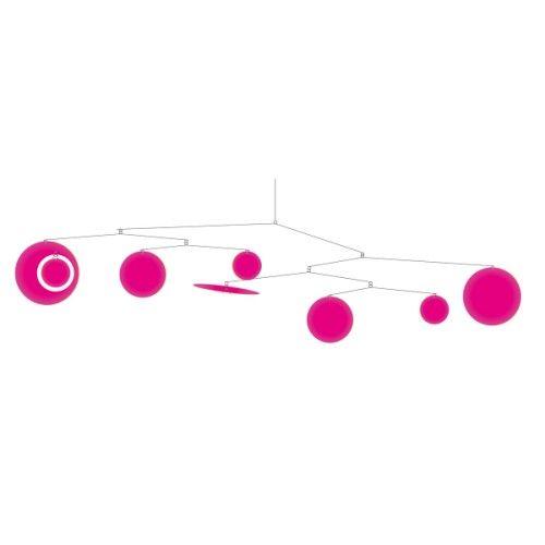 Ce mobile confettis rose offre des belles formes géométriques et colorées qui dansent pour votre enfant. Un subtil jeu d'équilibre entre rêve et réalité. Son installation est facile et rapide grâce à un système d'accroche adhésif.