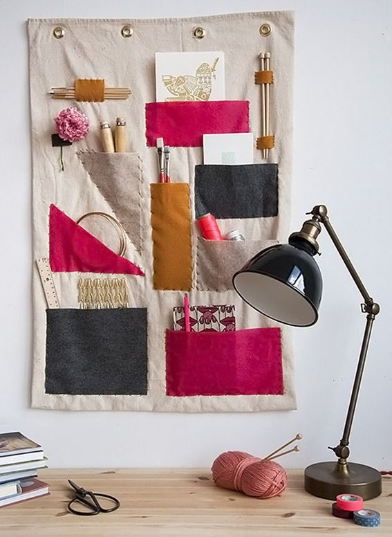 DIY Canvas Fabric Wall Organizer @Dawn Gass for your craft room?
