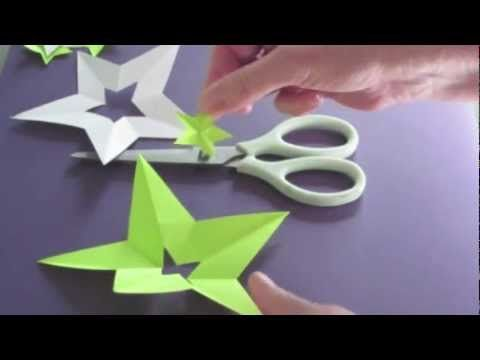 This is so cool. Make a perfect star with one cut. It also shows you how to make a star in the middle of a star.