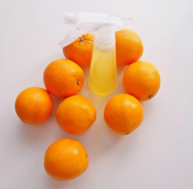 Ekologiczny, pomarańczowy środek do sprzątania.  Eco cleaning product diy ideas