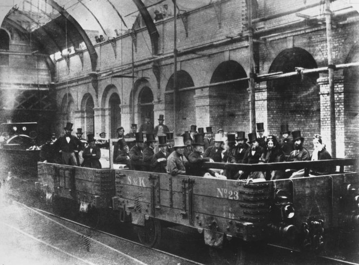 Chancellor William Ewart Gladstone on an inspection tour of the world's first underground line, 24th May 1862. | 38 Breathtaking Pictures From The Early Days Of The London Underground
