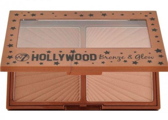 Dúo de bronceador e iluminador Hollywood Bronze & Glow de W7 es un dúo infalible para broncear e iluminar el rostro. Contiene dos productos en polvo, que pueden usarse por separado o en conjunto para un maquillaje perfecto. Por un lado, el bronceador en un tono cobre satinado, y el iluminador, de color champán. Con ayuda del bronceador, podrás conseguir un maquillaje con un punto de sol