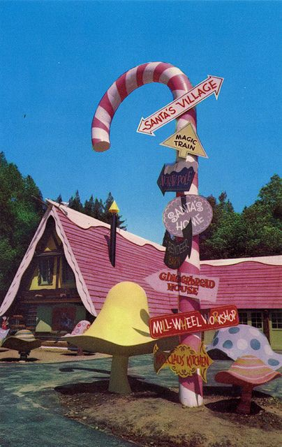 Giant Candy Cane Santa's Village Skyforest CA by mod*mom, via Flickr