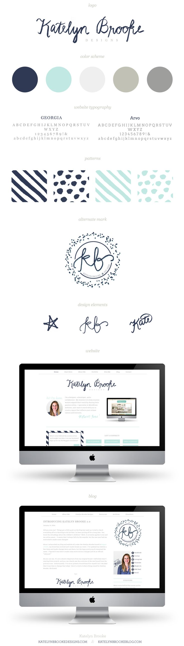 Katelyn Brooke 2.0 brand and site design || katelynbrookeblog.com