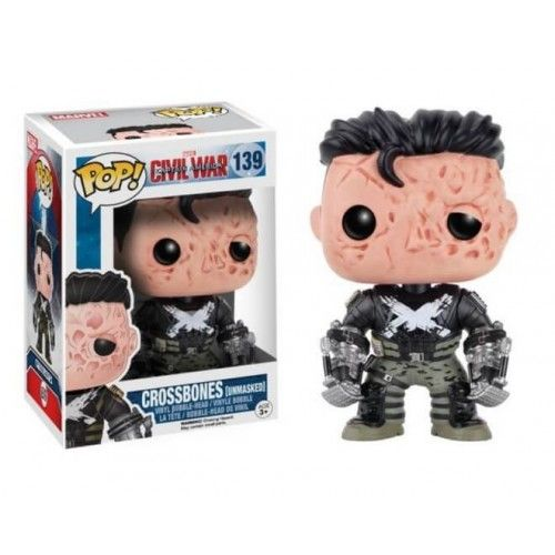 Funko CW Unmasked Crossbones, Ossos Cruzados, Civil War, Marvel, Barnes & Noble Exclusive, Guerra Civil, Funkomania