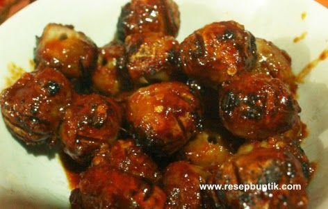 Resep Sate Bakso Bumbu Kacang Mantap