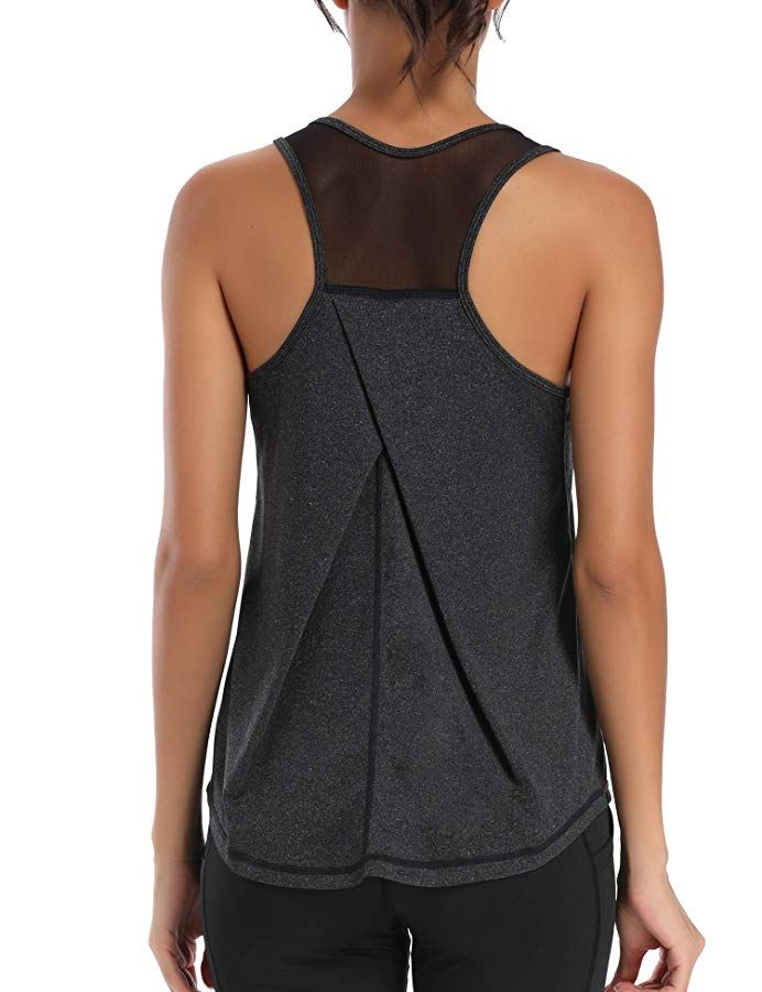 HLXFHB Workout Tank Tops for Women Gym Exercise Athletic Yoga Tops Racerback Sports Shirts