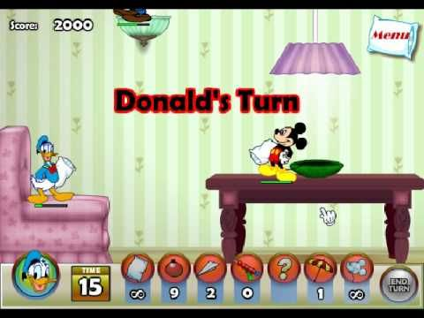 mickey mouse and friends in pillow fight online kids games