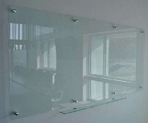 pizarron de cristal templado de 90 x 60 espesor 6mm claro