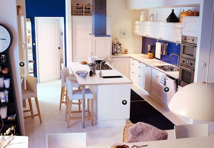 exemple de mod le de cuisine ikea cuisine de chez ikea avec lot central cuisine. Black Bedroom Furniture Sets. Home Design Ideas