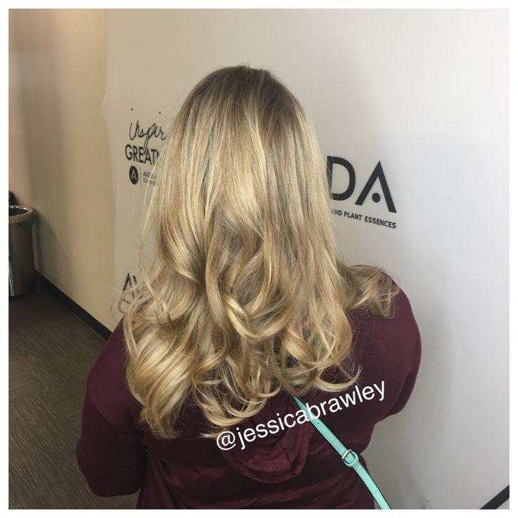 @jessicabrawley blowout hair done by Aveda student Samantha Crawford