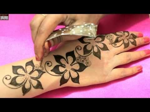 Floral Blast Mehndi Designs For Romantic Date|Unique Easy Classy Mehendi Art Tattoo Idea - YouTube