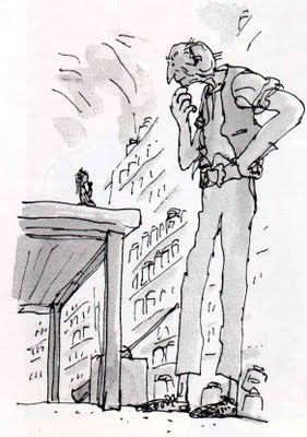 Quentin Blake. Wonderful illustrations for the imagination.