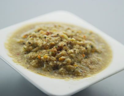 Cucumber Chutney - A crunchy chutney of cucumber ground with dals.