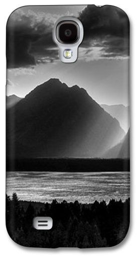 Light beams flood the Mountain scene. Grand Tetons National Park, Wyoming, USA. The shot was taken from Signal mountain. iPhone Cases.