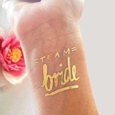 These cute metallic tattoos are available now at our online store! Perfect for a festival inspired hen party, a galloping weekend or just because! #hen #party #fest #do #hens #bach #bachelorette #team #bride #tribe #tattoos #gold #metallic #ideas #alternative #fun #unique #cool #different