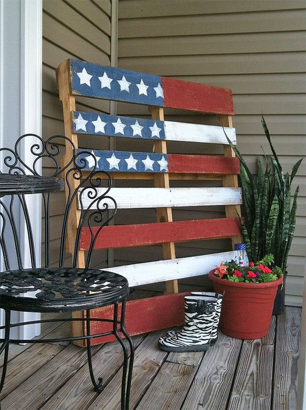 front porch 4th of july decor projects-25