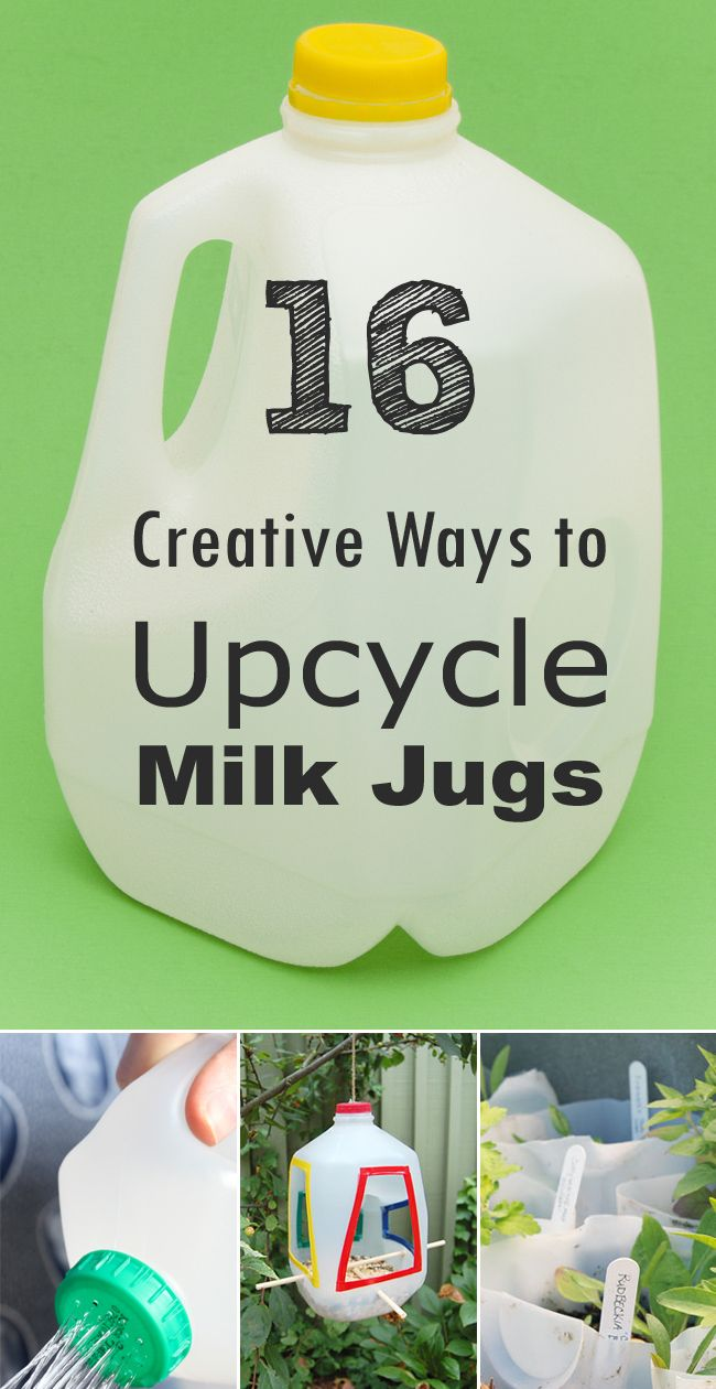 16 Creative Ways to Reuse and Upcycle Milk Jugs • milk jug DIY projects • milk jug crafts