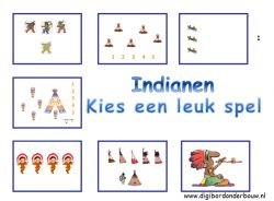 Indianen digibordlessen - Digibord Onderbouw