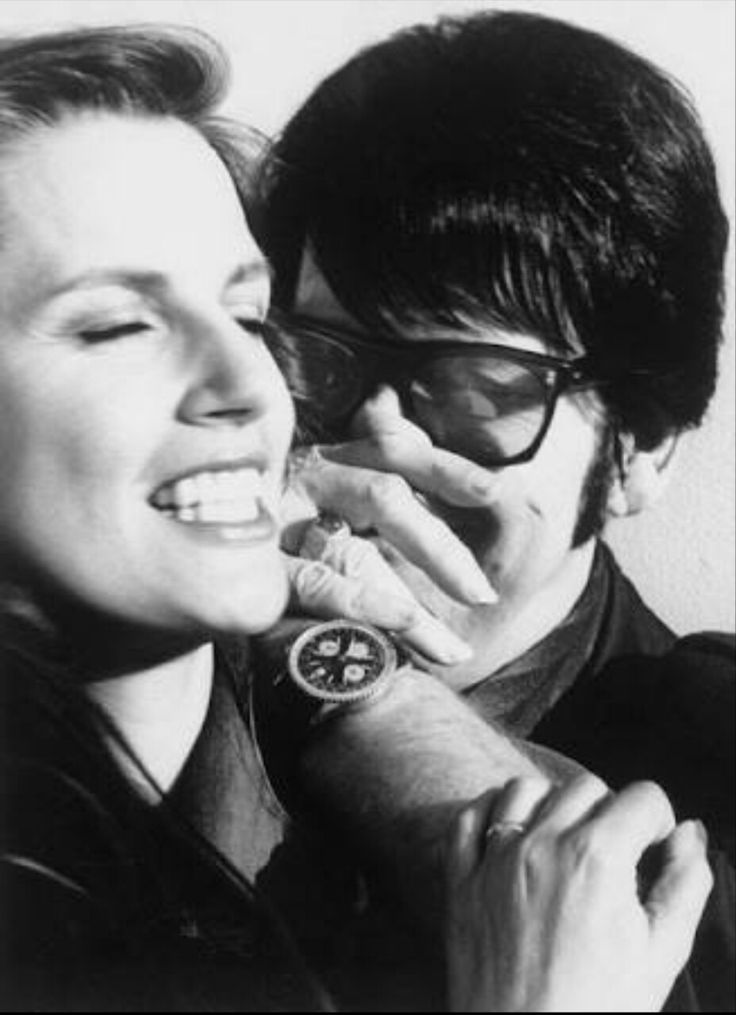 Roy Orbison with his wife Barbara